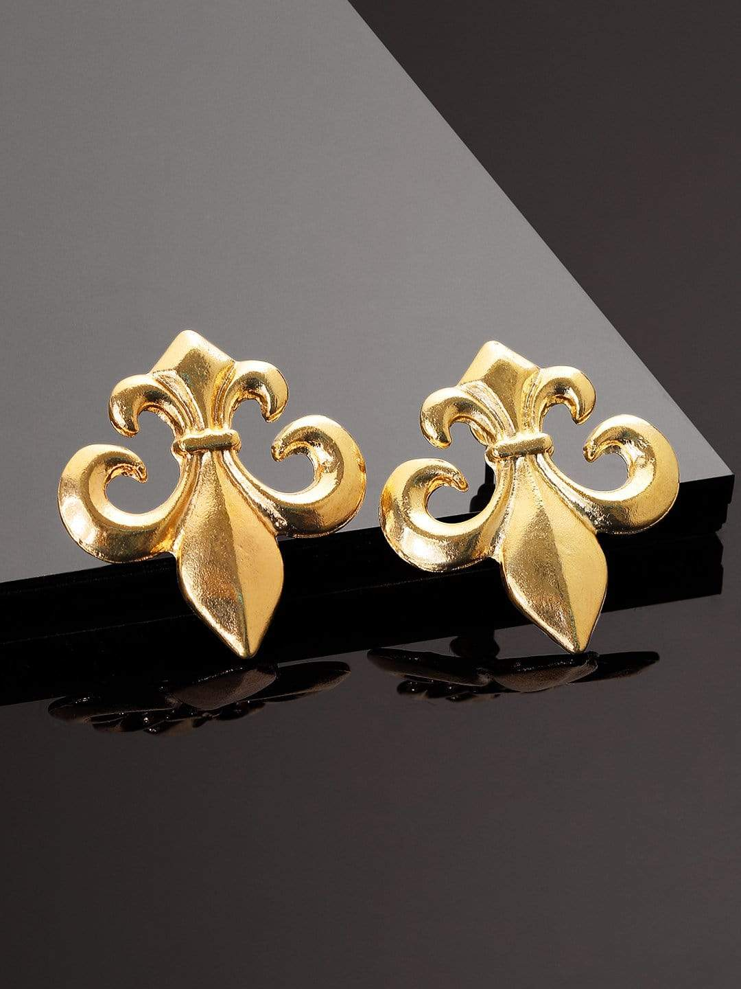Rubans Gold Plated Handcrafted Anchor Shape Drop Earrings Earrings