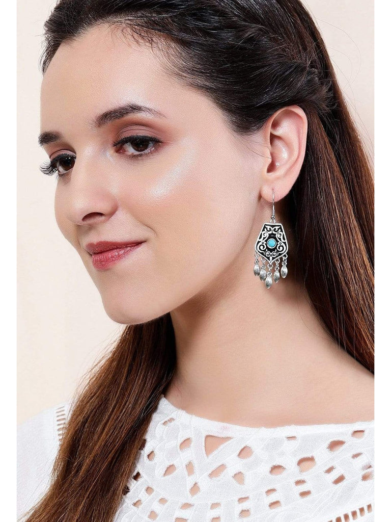 Rubans  Silver Plated  Handcrafted Enamel Drop Earrings Earrings