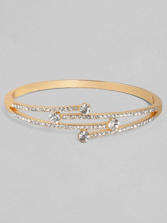 Rubans Zircon Studded Gold Plated Handcrafted Bracelet