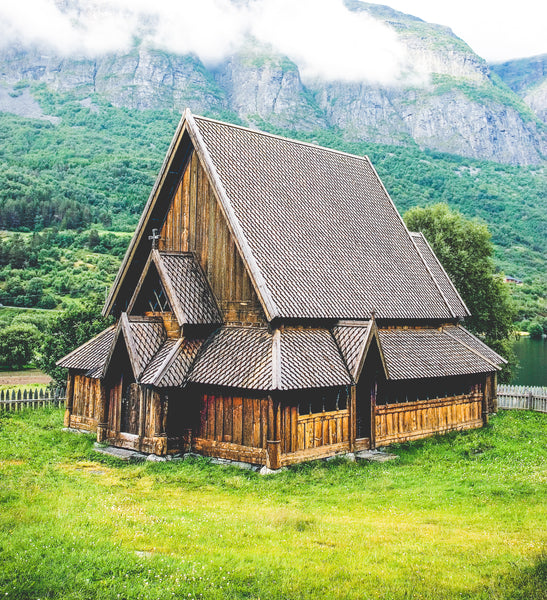 Viking stave church treated with pine tar for over 1000 years.