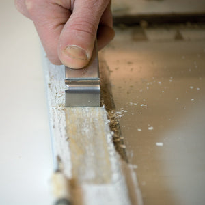 Sharpen the blade of the Little Scraper for Putty and Paint quickly and easily.