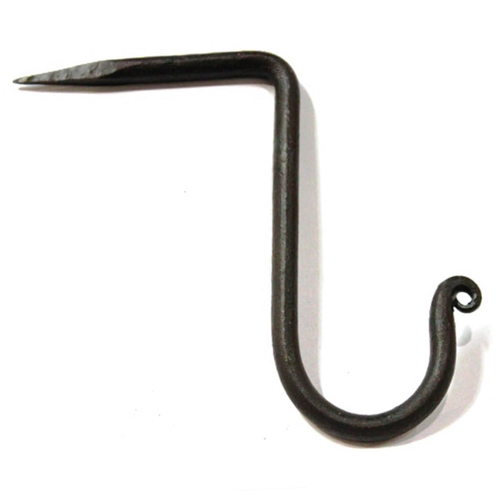 Forged Steel Beam Hook with natural antique patina.