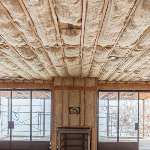 Installing Havelock Wool insulation batts in ceilings is easy.
