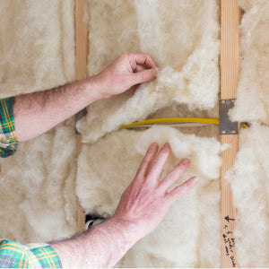 Havelock Wool insulation batts are easy to install around plumbing and wiring.