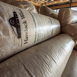 Havelock Wool loose-fill insulation comes compressed in bags for easy handling.
