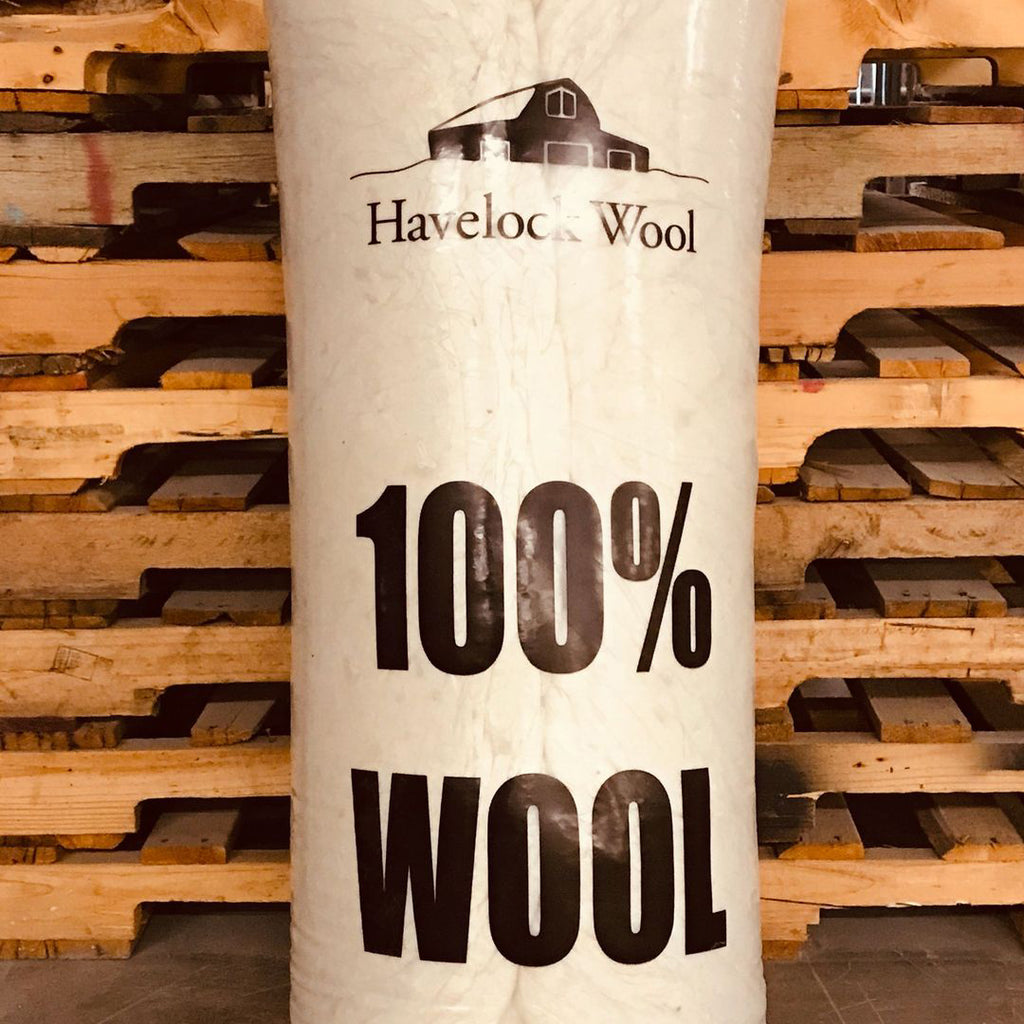 Havelock Wool loose-fill insulation comes in dense-packed bags for easy transport and handling.