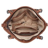Bailey Lockable Leather Concealed Carry Satchel to Crossbody by Lady Conceal - NEW! - Hiding Hilda, LLC