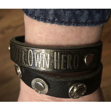 Be Your Own Hero Double Wrap Leather Bracelet - HidingHilda, LLC