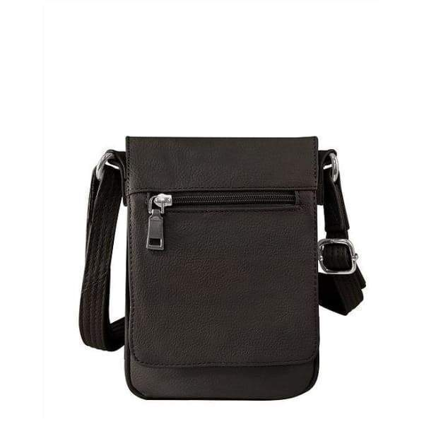 Compact Classic Flap Over Leather Conceal and Carry Lockable Crossbody - Hiding Hilda, LLC