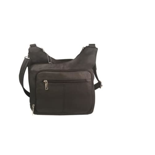 Cross Panel Leather Quick Draw Lockable Concealed Carry Crossbody by Roma Leathers - Hiding Hilda, LLC