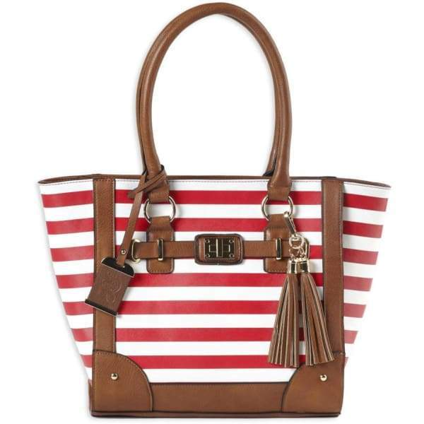 Cute Striped Lockable Concealed Carry Tote by Bulldog - Hiding Hilda, LLC