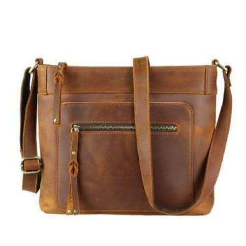Delaney Conceal Carry Distressed Leather Crossbody - Limited Quantity - Hiding Hilda, LLC
