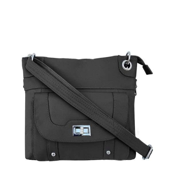 Essential Leather Lockable Crossbody Conceal Carry Bag by Roma Leather Gun Bags - Hiding Hilda, LLC
