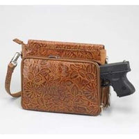 GTM Original Tooled Leather Conceal Carry Clutch Purse - Hiding Hilda, LLC