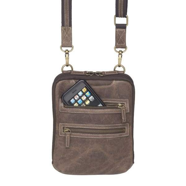 GTM Original Top Draw Concealed Carry Essential Distressed Leather Crossbody Purse - Hiding Hilda, LLC