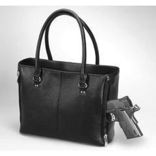 GTM Original Traditional Open Top Leather Concealed Carry Tote - Hiding Hilda, LLC