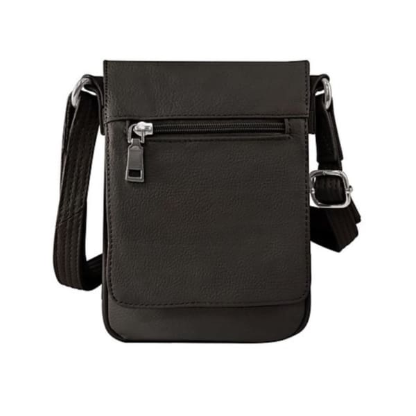 Large Classic Flap Over Leather Concealed Carry Crossbody - Hiding Hilda, LLC