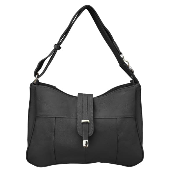 Lockable Leather Hobo Conceal Carry top flap by Roma - Hiding Hilda, LLC