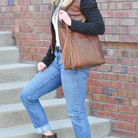 New Bella Leather Lockable Concealed Carry Shoulder Tote - Tote