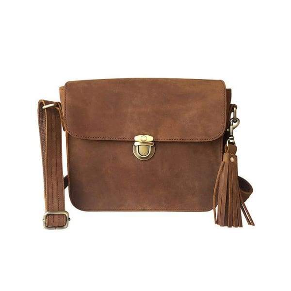 Roma Leather NEW Lockable Conceal Carry Crossbody Purse - Hiding Hilda, LLC