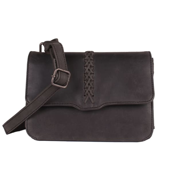 NEW Jolene Compact Lockable Leather Crossbody Concealed Carry Purse - Charcoal Black - Crossbody