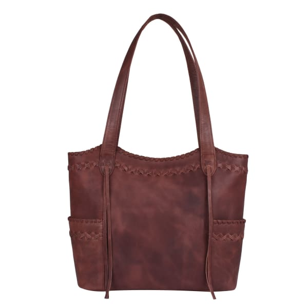 NEW Kendall Lockable Leather Concealed Carry Purse Tote - Dark Mahogany - Tote