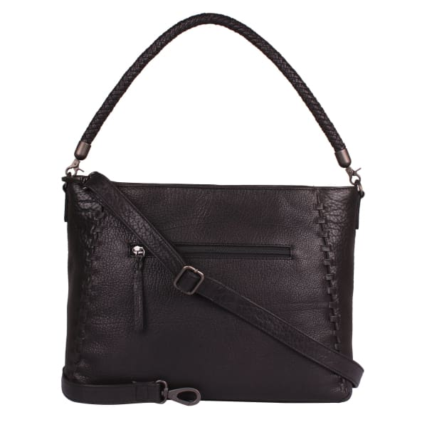 New Lacey Leather Hobo to Crossbody Lock Concealed Carry Purse - Black - Crossbody