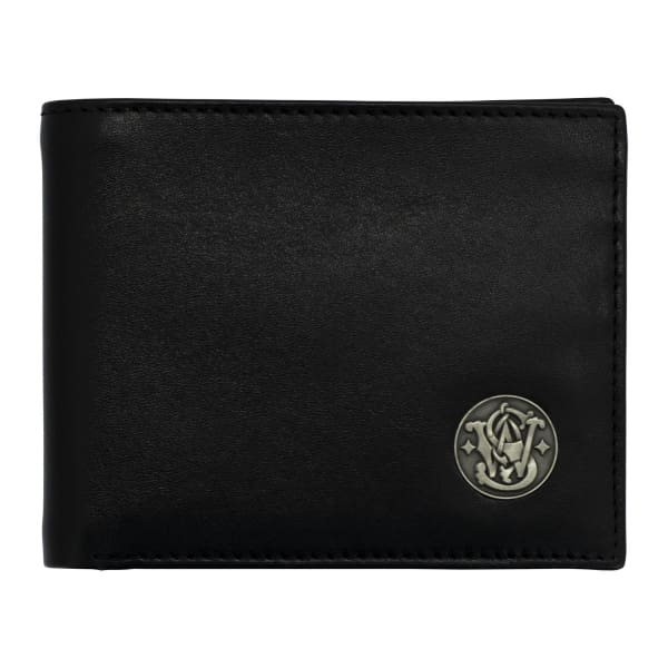 NEW Smith and Wesson Genuine Leather RFID blocking Bifold Wallet - Black - Wallet