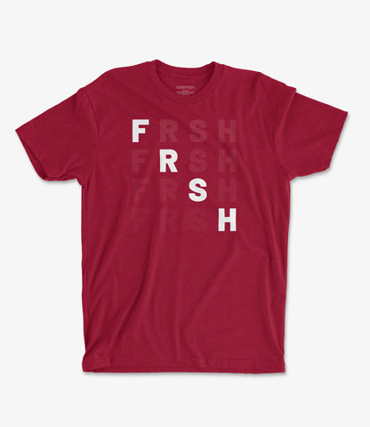 FRSH Fade Red Tee