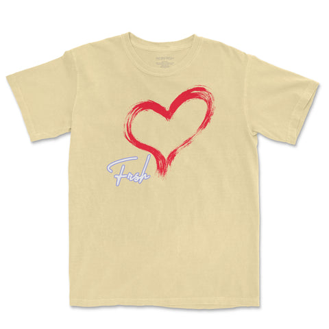 FRSH Heart Butter Yellow Tee