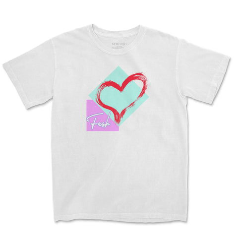 Heart & Shapes White Tee