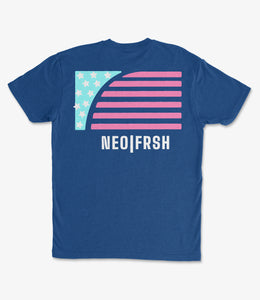 NEO FRSH Flag Royal Tee