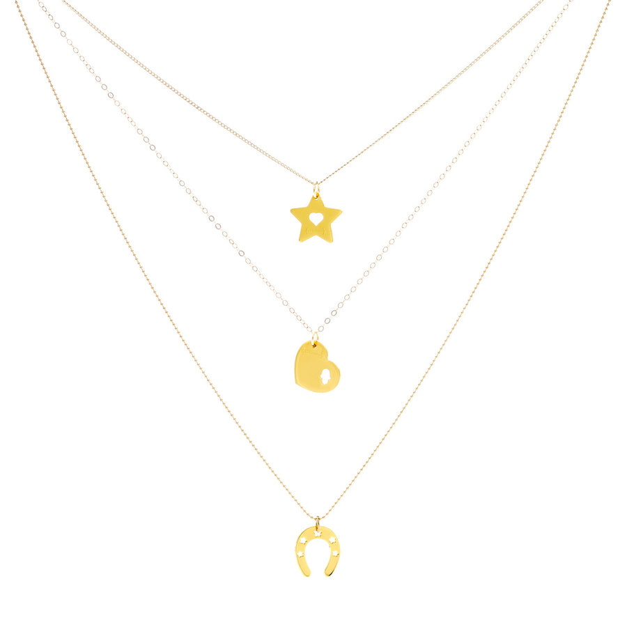 EXTRA LOVE EXTRA LUCK TRIO NECKLACES