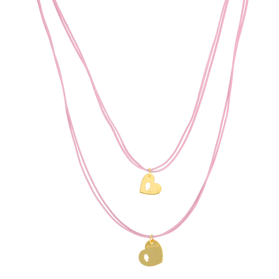 Mama+Me Cord Necklaces Set | Light Pink