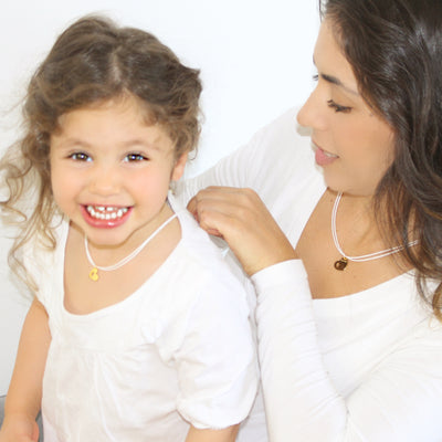Mama+Me Cord Necklaces Set | WHITE