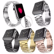 Stainless Steel Handmade Smart Apple Watch Strap iwatch i Silver Gold Black Rose Strap SmartWatch band 38 42mm custom Watchband Bracelet