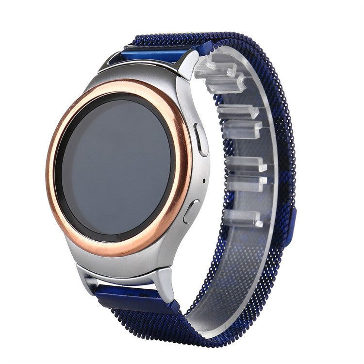 316L Stainless Steel Blue Camo Milanese Handmade Smart Samsung Gear s2 s3 Moto360 Watch Strap