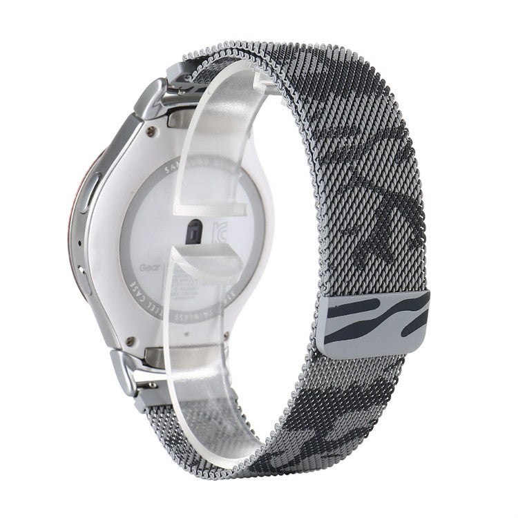 316L Stainless Steel Gray Camo Milanese Handmade Smart Samsung Gear s2 s3 Watch Strap