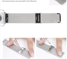 316L Stainless Steel Handmade Smart Apple Watch Strap iwatch i Metal Black Gold Strap SmartWatch band 38 42mm custom Watchband Bracelet