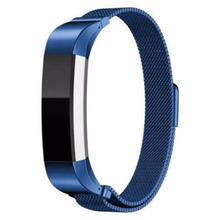316L Stainless Steel Handmade Smart Fitbit Alta Watch Strap Milanese Loop Blue Gift Magnetic SmartWatch band custom Watchband Fit Bit