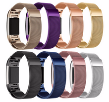 316L Stainless Steel Handmade Smart Fitbit Charge 2 Watch Strap Milanese Loop Gift Magnetic SmartWatch band purple Blue Navy Silver Brown gold Purple Pink custom Watchband Fit Bit