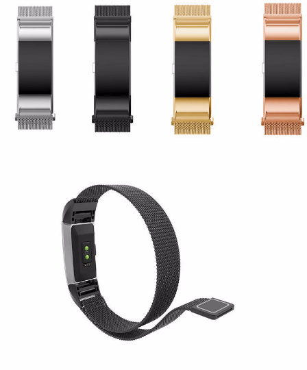 316L Stainless Steel Handmade Smart Fitbit Charge 2 Watch Strap Milanese  Loop Gift Magnetic SmartWatch band gold custom Watchband Fit Bit