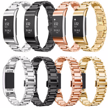 316L Stainless Steel Handmade Smart Fitbit Charge 2 Watch Strap Milanese Loop Gift gold Magnetic SmartWatch band custom Watchband Fit Bit