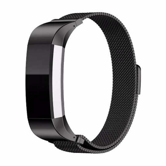 316L Stainless Steel Handmade Smart Fitbit Charge 2 Watch Strap Milanese Loop black Gift Magnetic SmartWatch band custom Watchband Fit Bit
