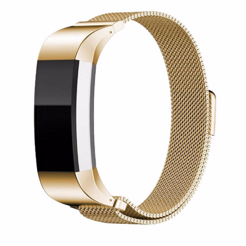 316L Stainless Steel Handmade Smart Fitbit Charge 2 Watch Strap Milanese Loop gold Gift Magnetic SmartWatch band custom Watchband Fit Bit