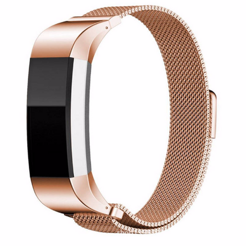 316L Stainless Steel Handmade Smart Fitbit Charge 2 Watch Strap Milanese Loop rose gold Magnetic SmartWatch band custom Watchband Fit Bit