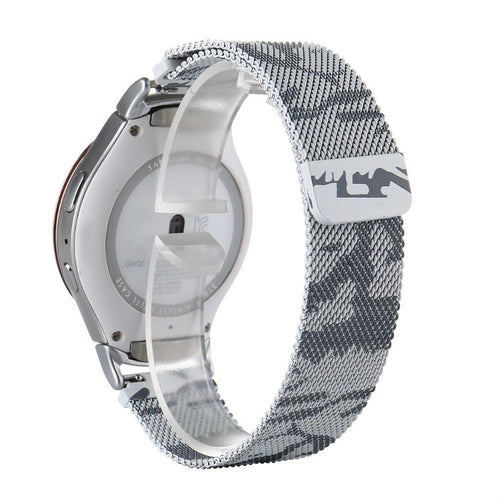 316L Stainless Steel White Camo Milanese Handmade Smart Samsung Gear s2 s3 Moto360 Watch Strap Strap SmartWatch band custom Watchband Bracelet
