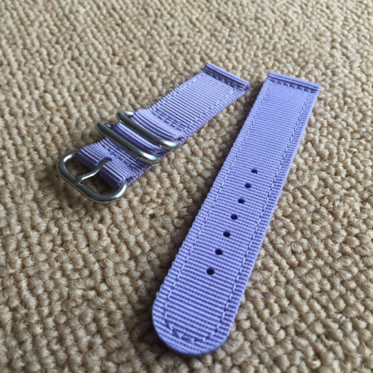 Handmade Blue Purple Nylon Strap NATO Top Gun IWC Timex Rolex Hamilton Daniel Wellington Panerai DW strap watch band 20mm custom made