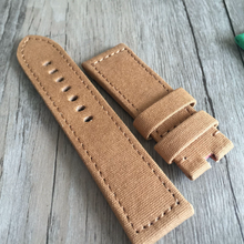 Handmade brown Khaki Nylon Pam111 Strap Nato IWC Timex Rolex Seiko Hamilton Daniel Wellington Panerai DW strap watch band 24 mm custom made