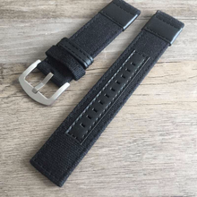 Handmade Denim Nylon Khaki Leather Strap NATO jeep IWC Timex Rolex Hamilton Daniel Wellington Panerai DW strap watch band 20 22 mm custom made